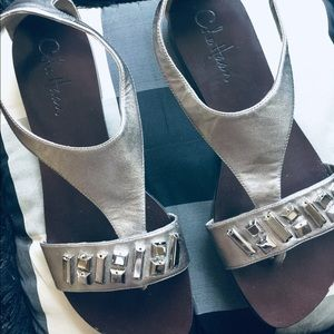Cole Haan Pewter Sandals